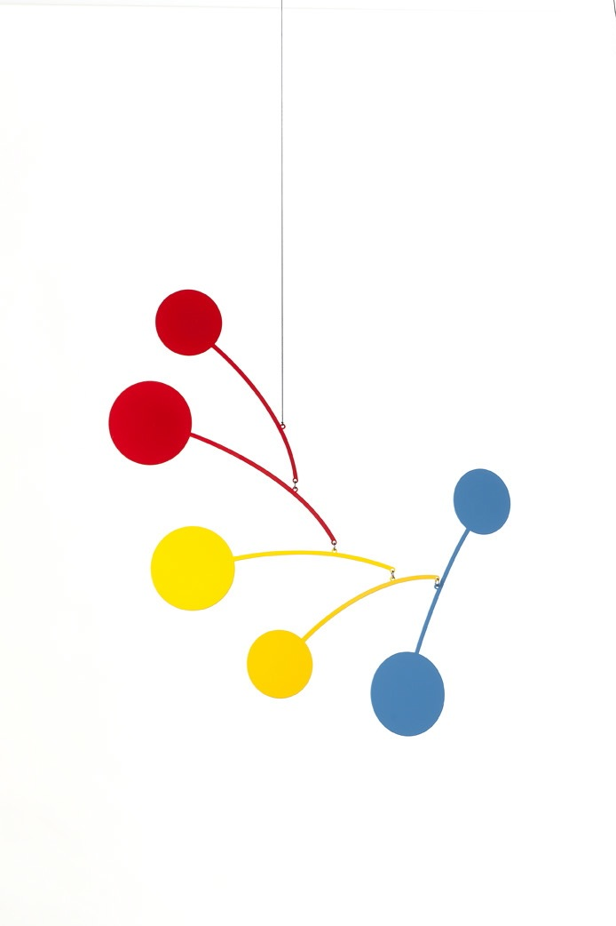 Ekko Workshop Circle Series Mobile in Red, Yellow, and Blue