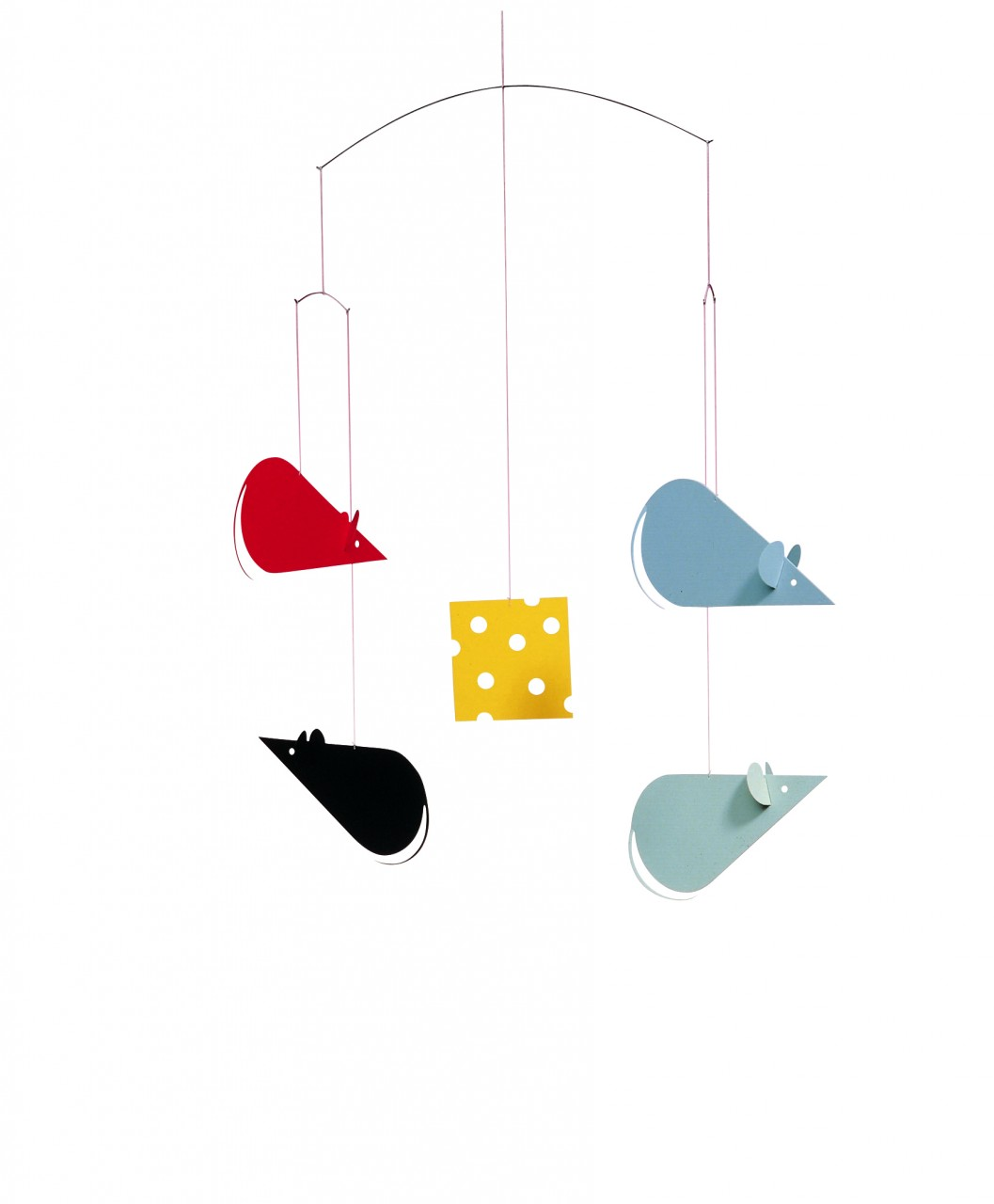 Flensted Cheese Mice in Red/Gray