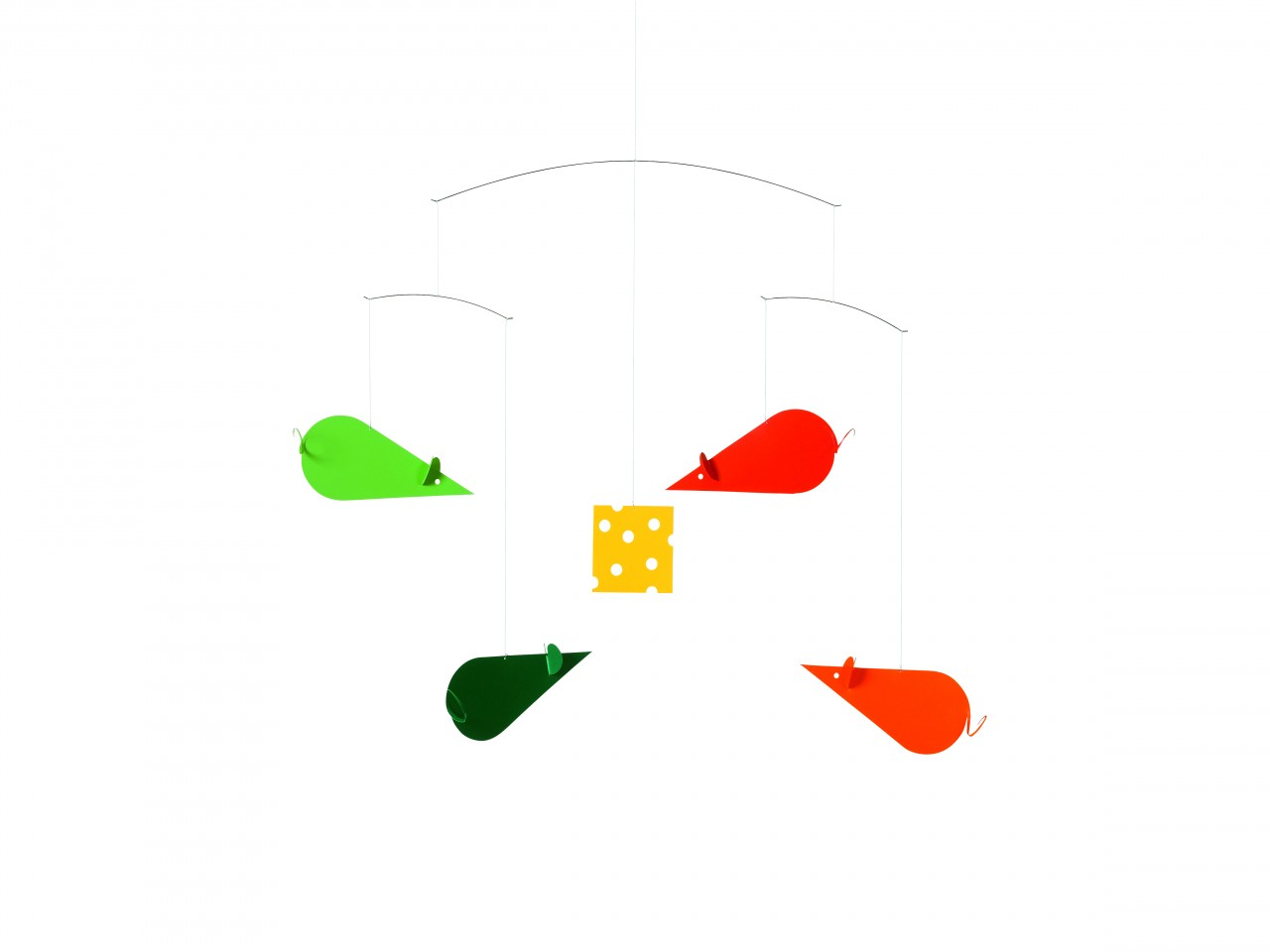Flensted Cheese Mice in Red/Green