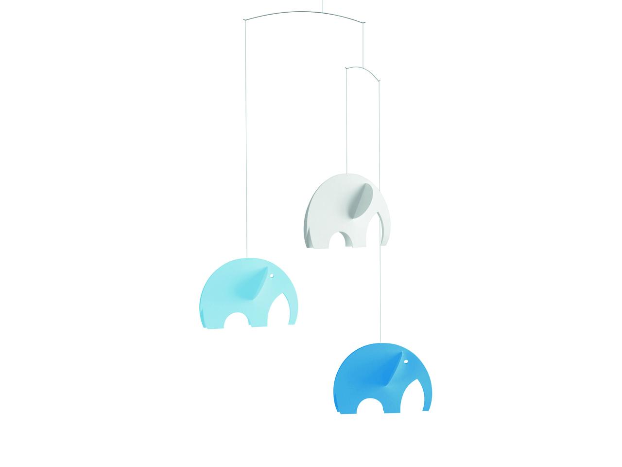 Flensted Olephant Mobile in Blue