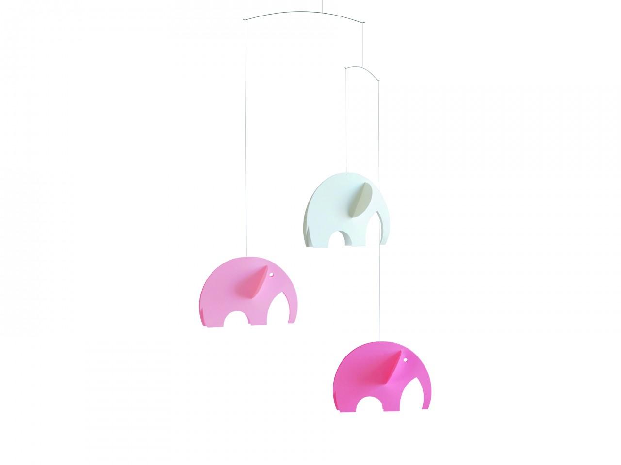 Flensted Olephant Mobile in Pink