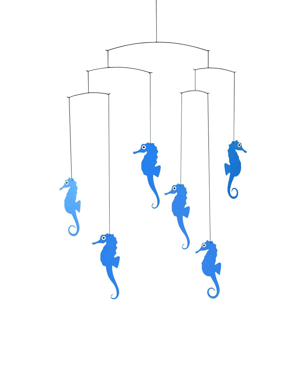 Flensted Seahorse Mobile in Blue