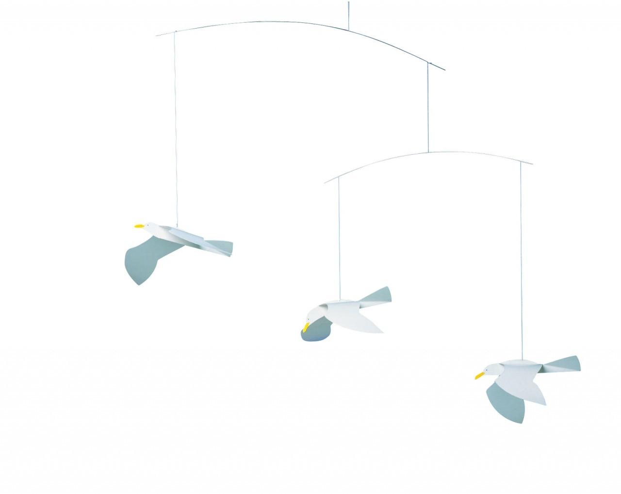 Flensted Soaring Seagulls Mobile