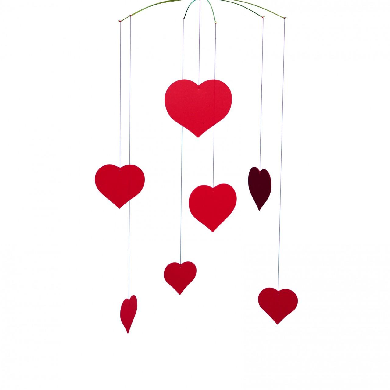 Flensted Valentine Happy Hearts Mobile