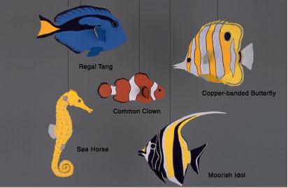 Skyflight Tropical Fish Mobile
