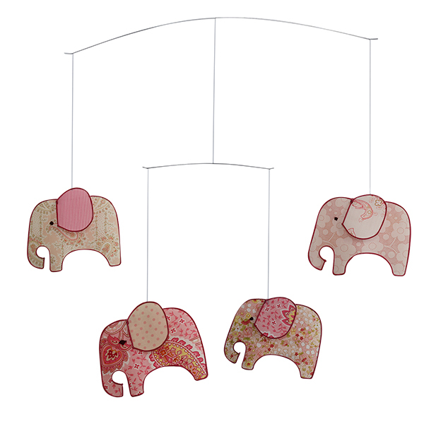 Tiger Tribe Pink Elephant Mobile
