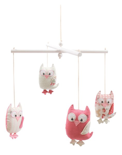 Tiger Tribe Stuffed Owl Mobile