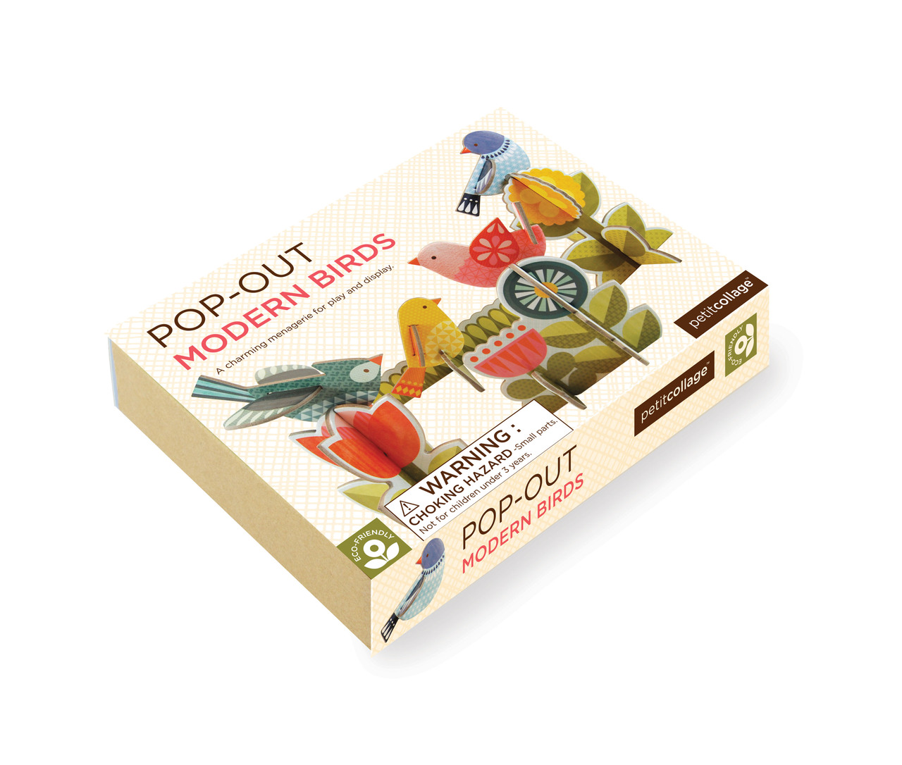 Petit Collage Pop-out and Play Modern Birds Packaging