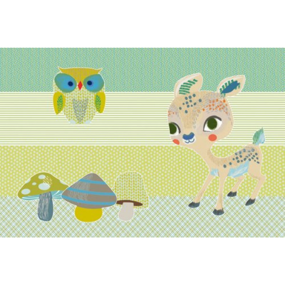 Djeco Woods Wall Mobile Card and Envelope