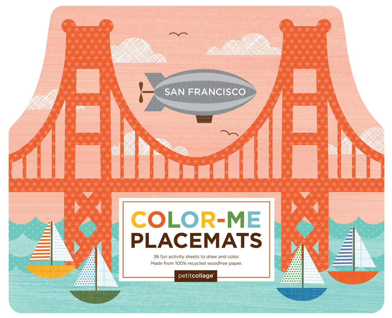 Petit Collage San Francisco Color-Me Placemats