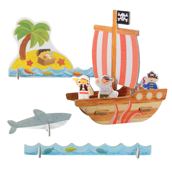 Petit Collage Pop-out and Color Pirates