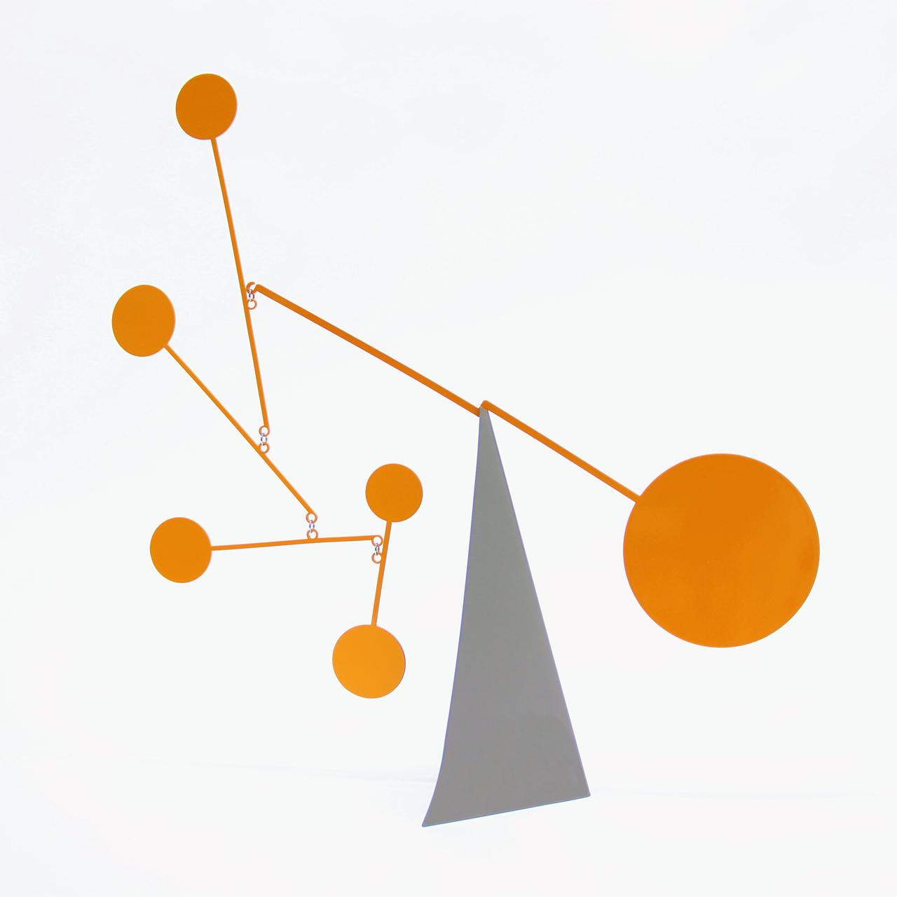 Ekko Workshop Standing Circles Desktop Mobile, Gray and Orange