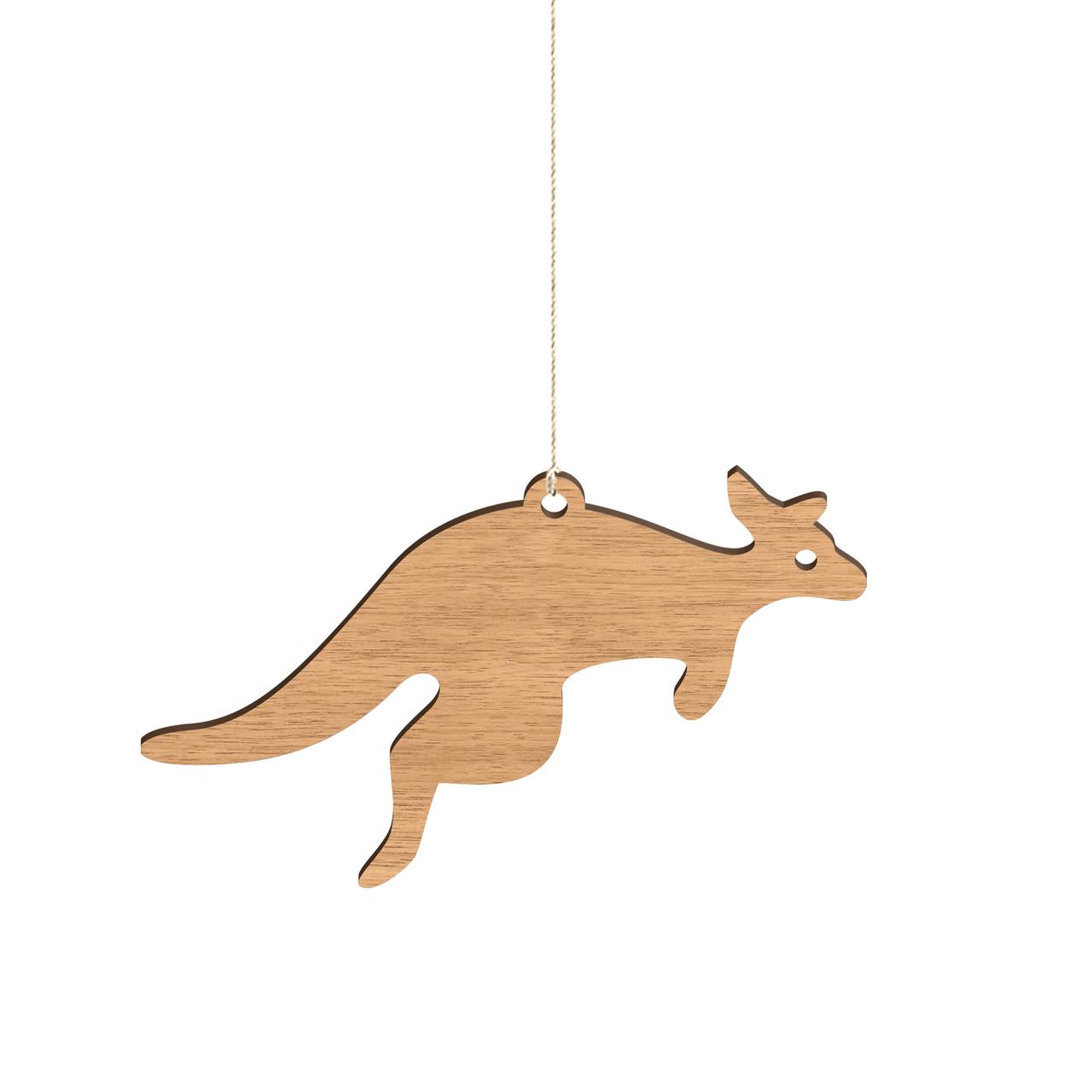 Byrne Woodware Australian Animals Baby Mobile Kangara