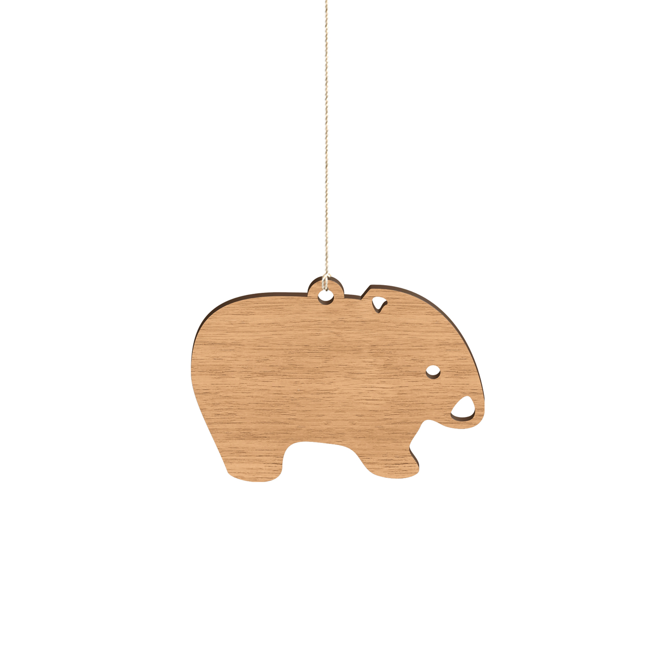 Byrne Woodware Australian Animals Baby Mobile Wombat