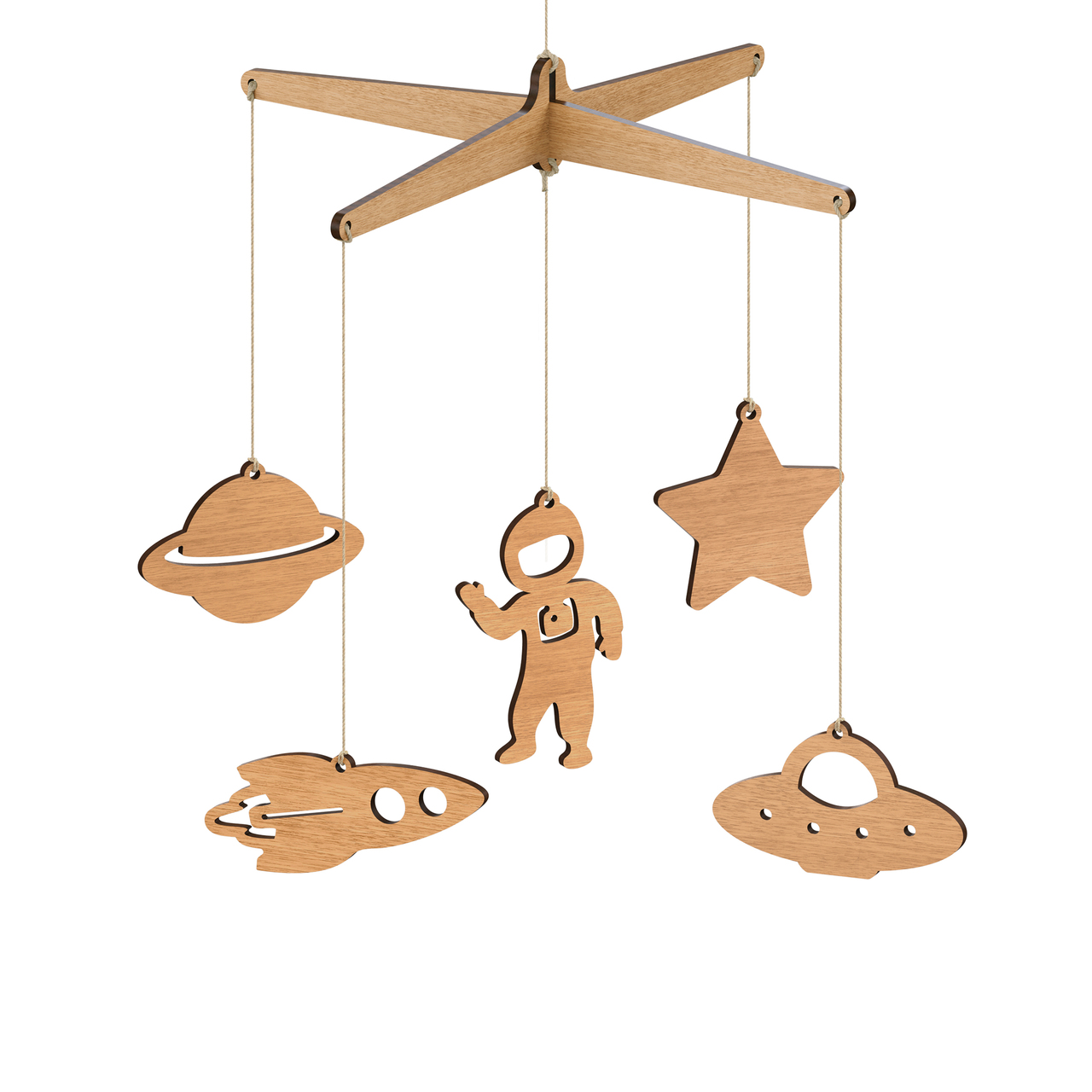 Byrne Woodware Outer Space Baby Mobile
