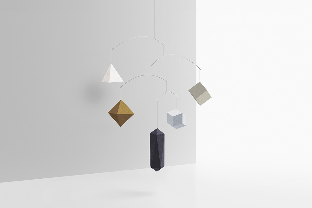 Small Good Things Metallic Polygon Mobile