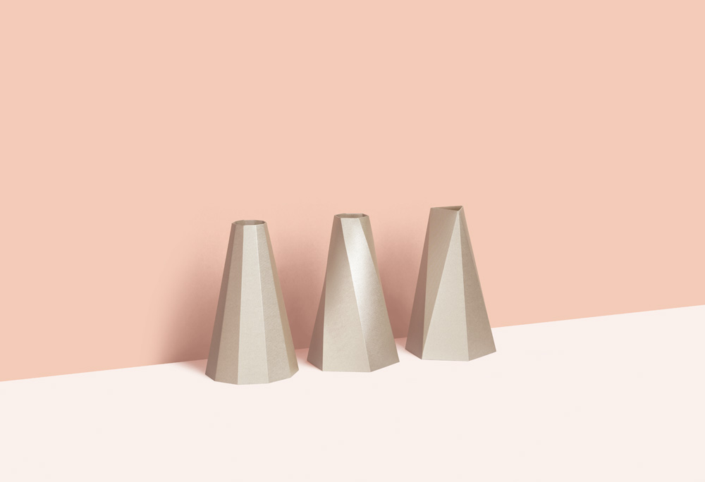 Small Good Things Gold Polygon Vase