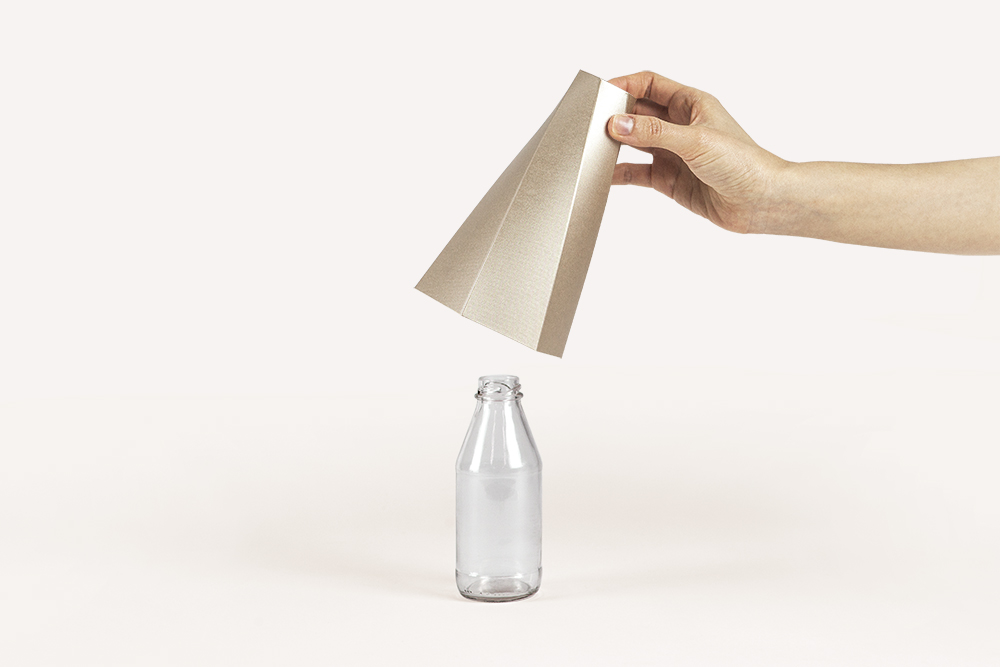 Gold Polygon Vase