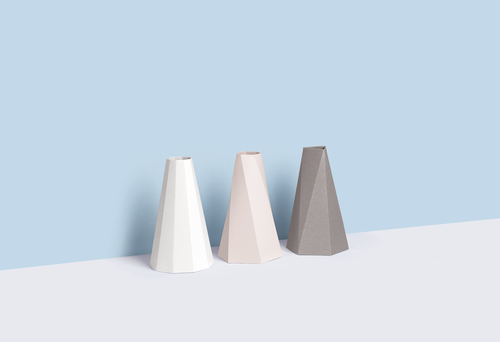 Small Good Things Stone Polygon Vase