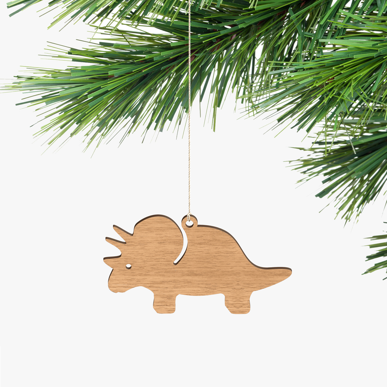 Byrne Woodware Dinosaur Ornaments Triceratops