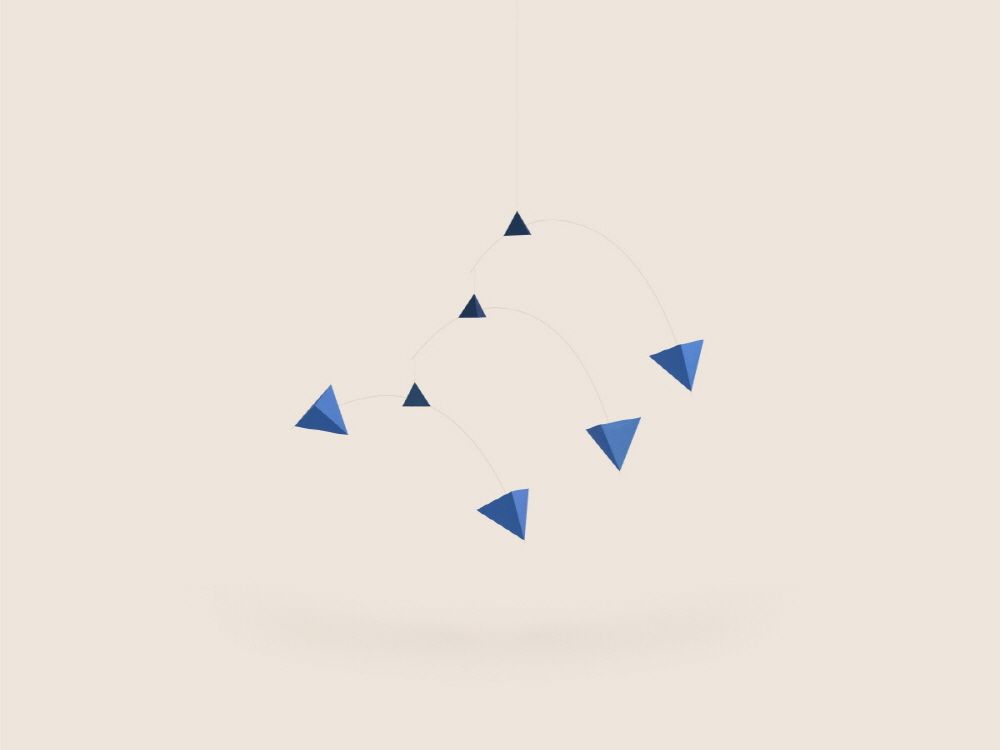 Small Good Things Blue Polygon Mobile