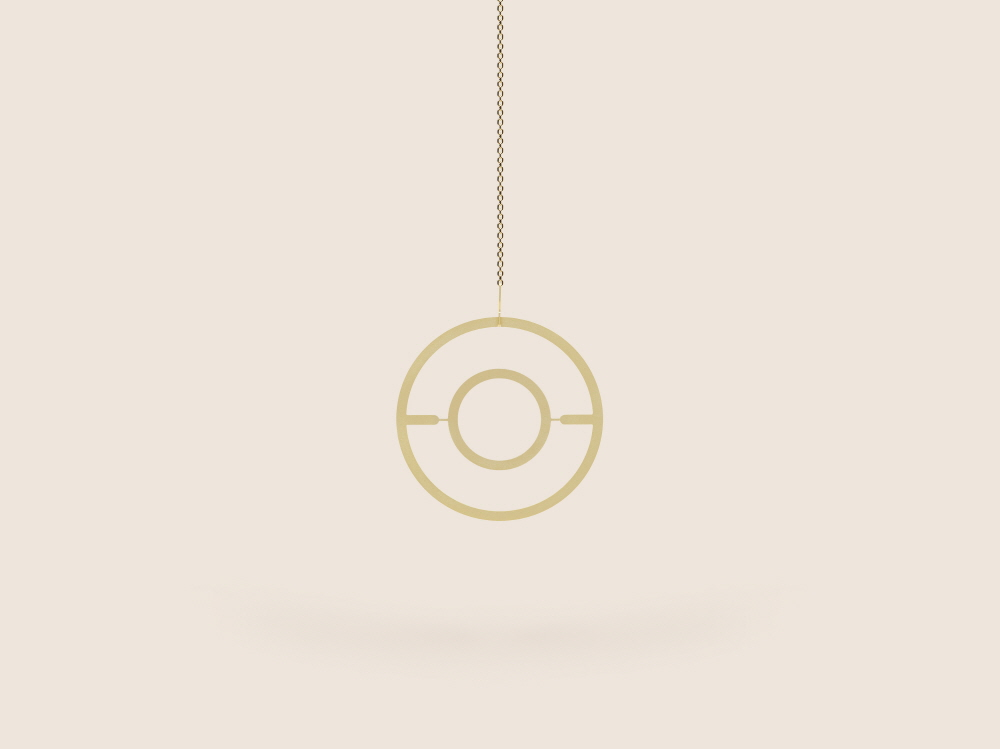 Small Good Things Circle Plant Mobile, Gold