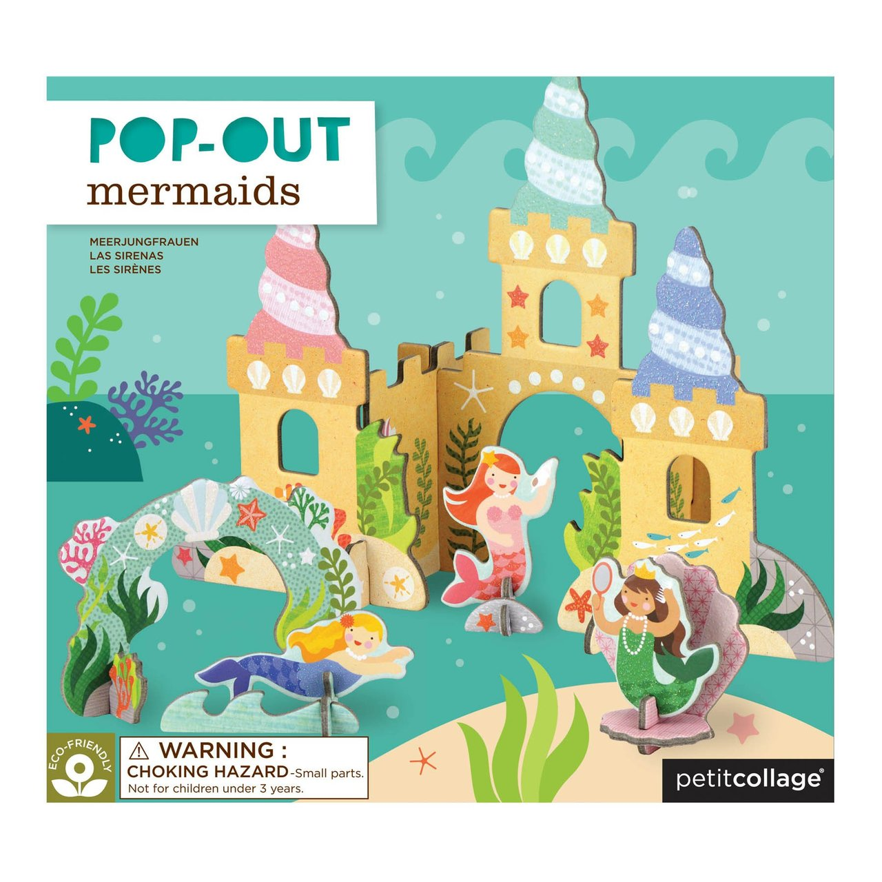 Pop-out and Play Mermaid Castle
