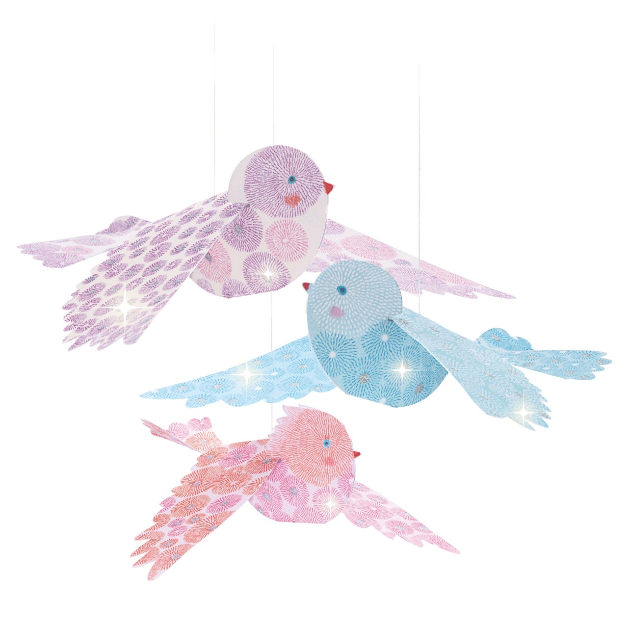 Djeco Glitter Birds Airy Mobile