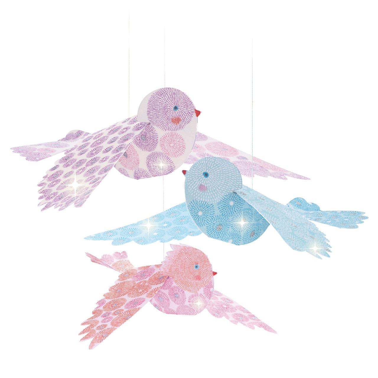 Djeco Glitter Birds Airy Mobile