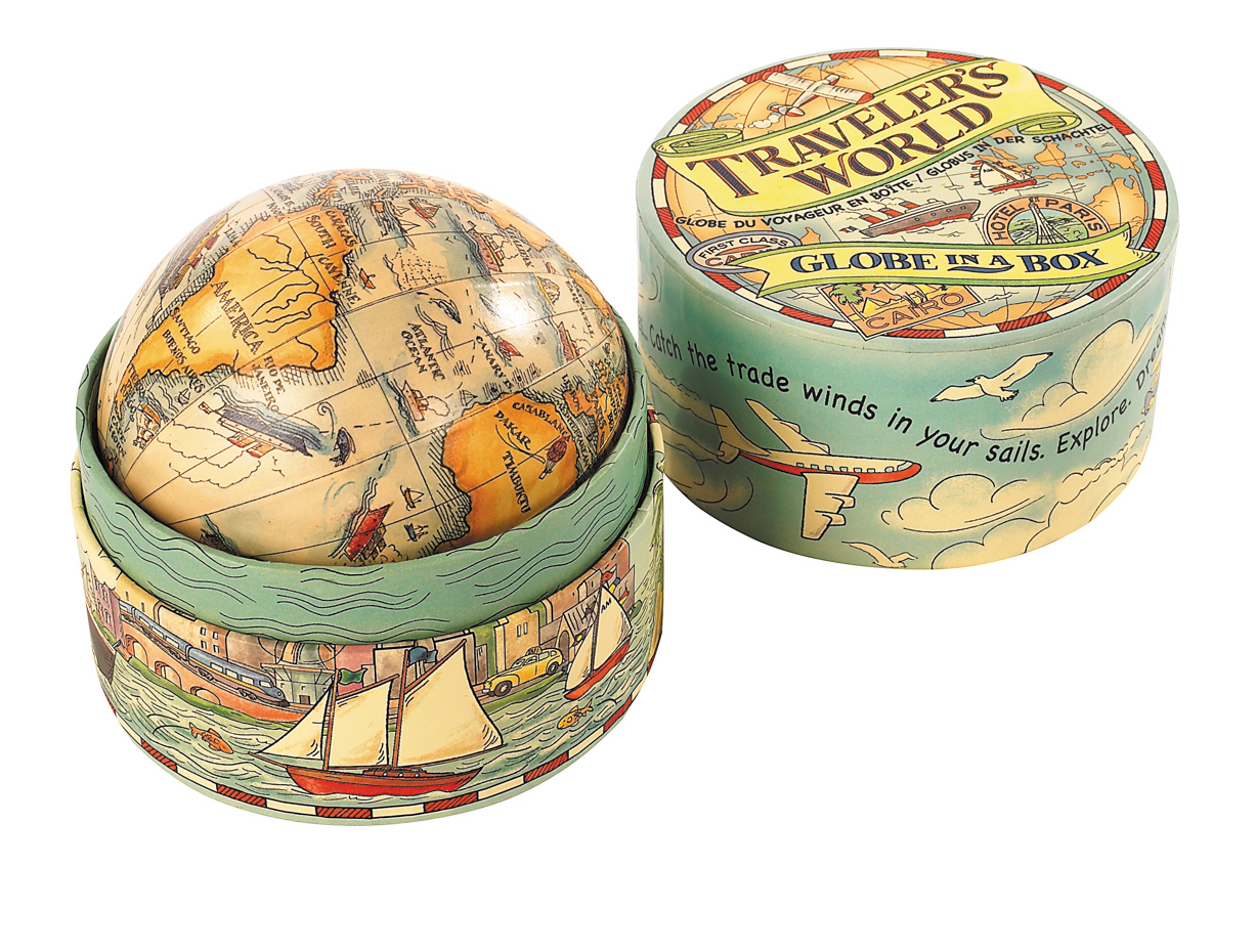 Authentic Models Traveler's World Globe in Box