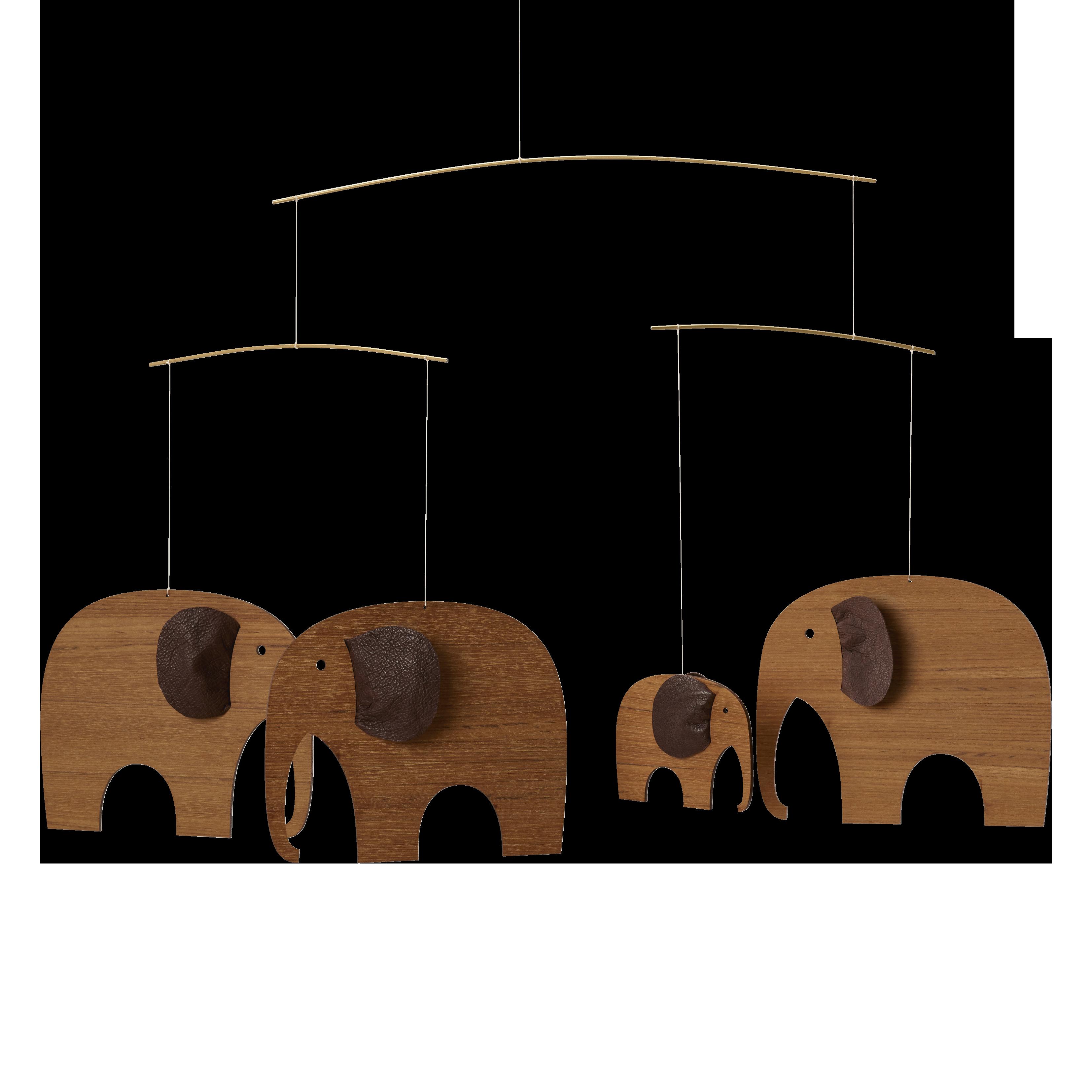 Flensted Elephant Party Mobile, Teak