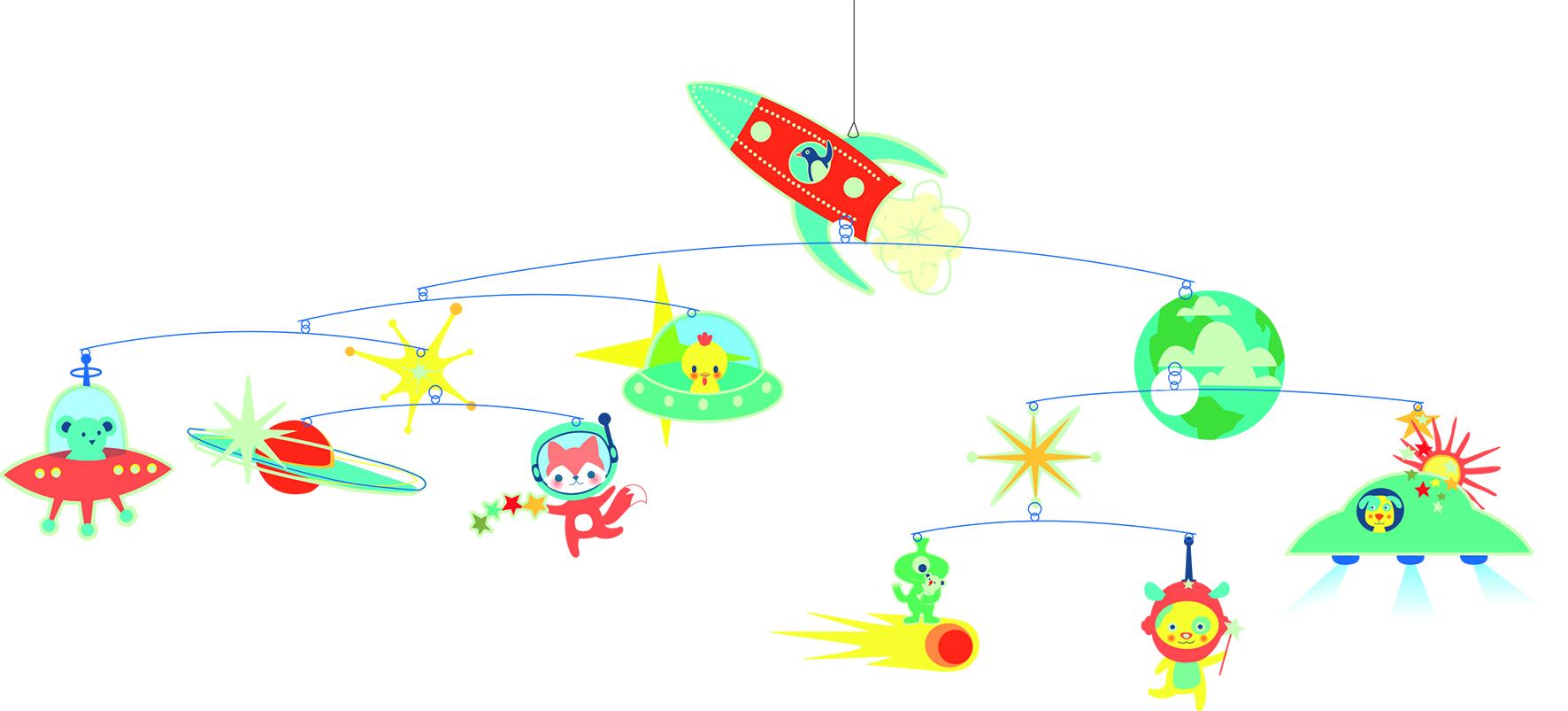 Djeco Rocket Mobile