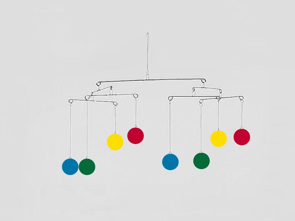 Constellation 8 Mobile, multicolor circles