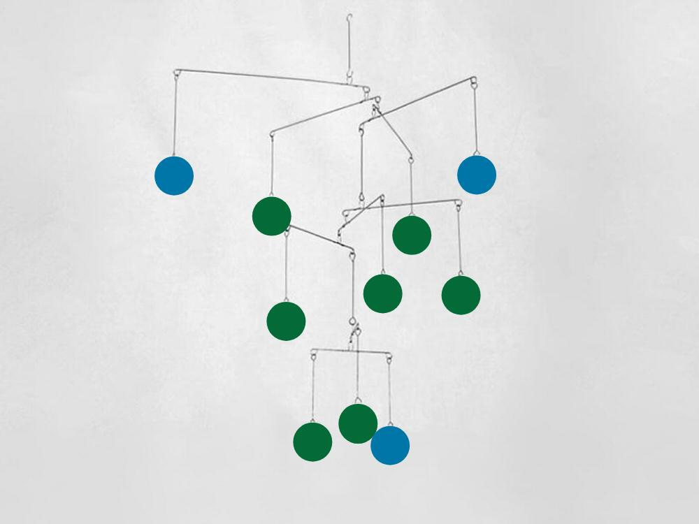 Phoenix Kinetica Mobile, Blue/Green Circles
