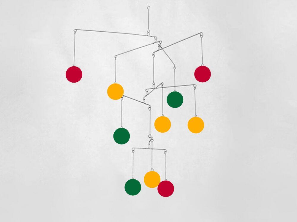 Phoenix Kinetica Mobile, Multicolor Circles