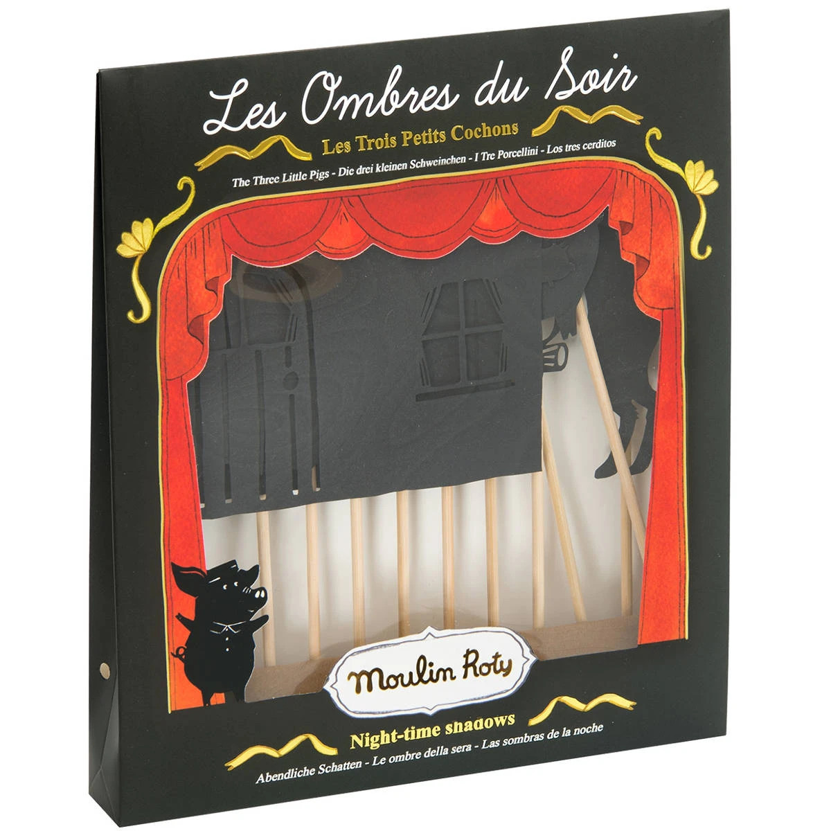 Moulin Roty Three Little Pigs Shadow Puppets