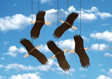 Bald Eagle Mobile. Create a custom mobile from any animal from our Monarch Mobiles collection