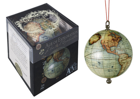Travelers World Globe in Box Authentic Models Decorative Globe