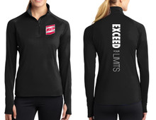 Women's Long-Sleeve 3/4 zip (Exceed 6-Way)