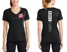 Ladies V Neck T-Shirt (Black)