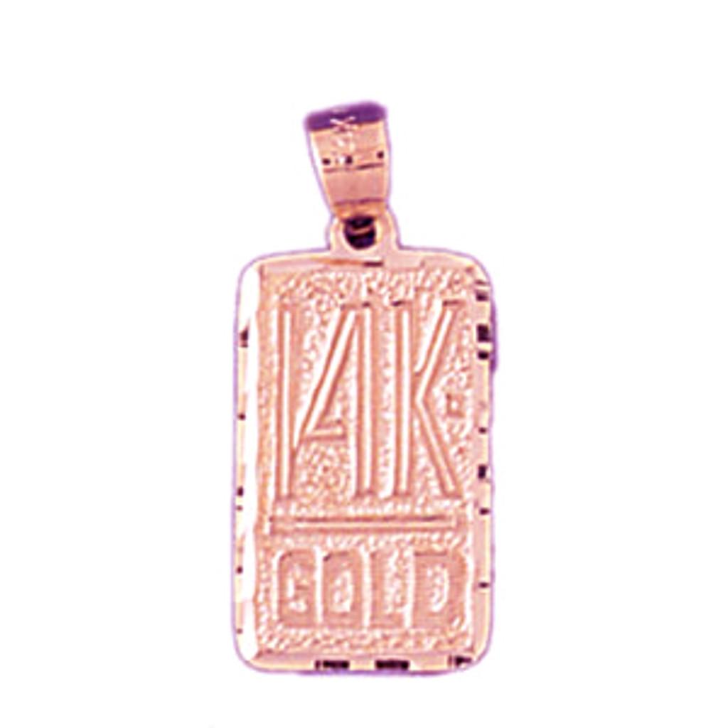 Forteen K Gold Pendant Necklace Charm Bracelet in Gold or Silver 10573