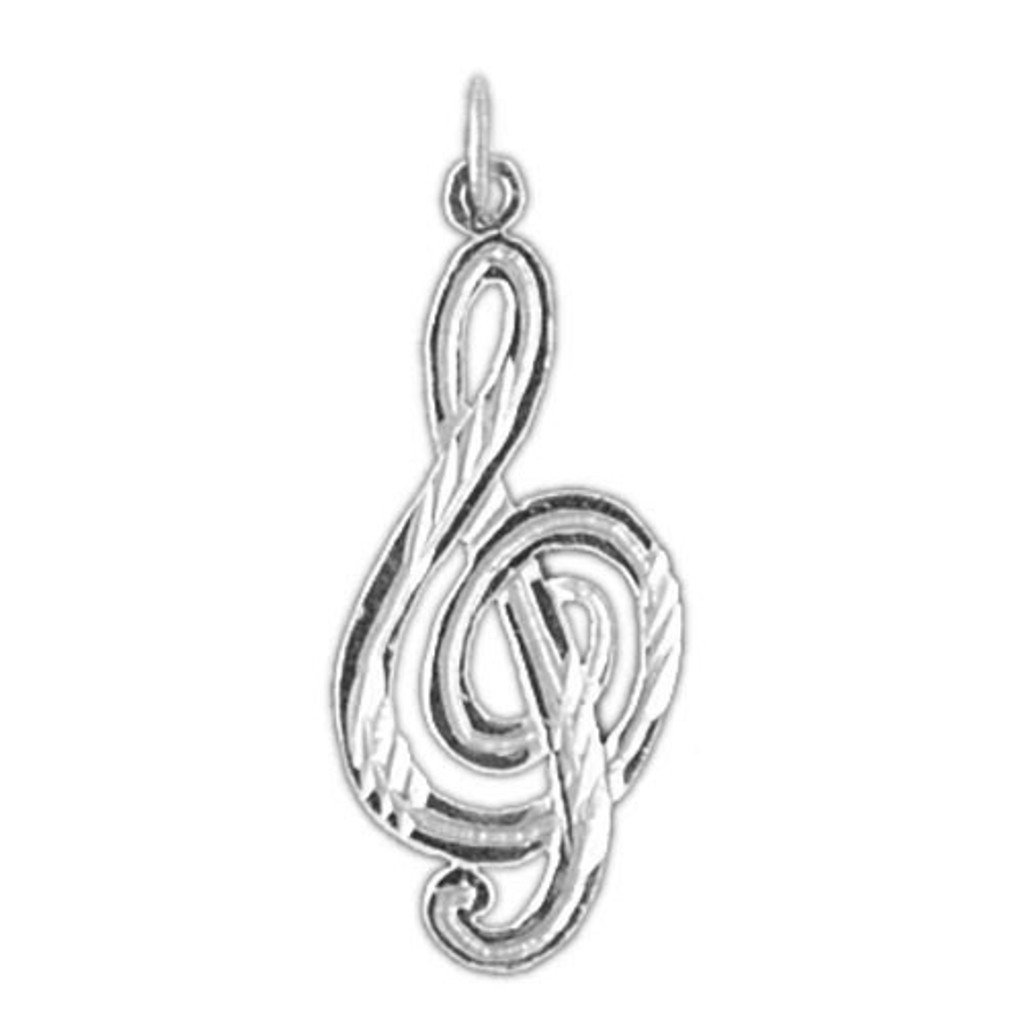 Musical Note Charm Bracelet or Pendant Necklace in Yellow, White or Rose Gold DZ-6266 by Dazzlers