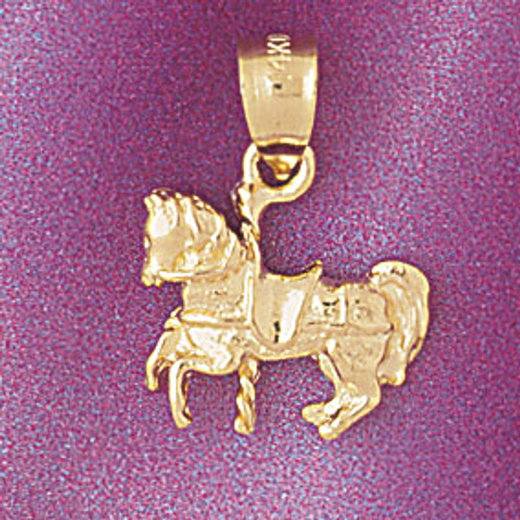 Made On Terra Grand Carousel Horse Charm with Chain Bracelet
