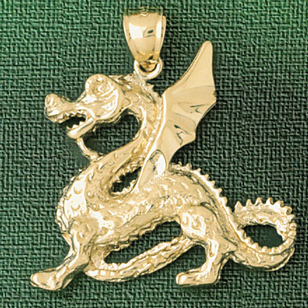 Dragon Pendant Necklace Charm Bracelet in Gold or Silver 2376