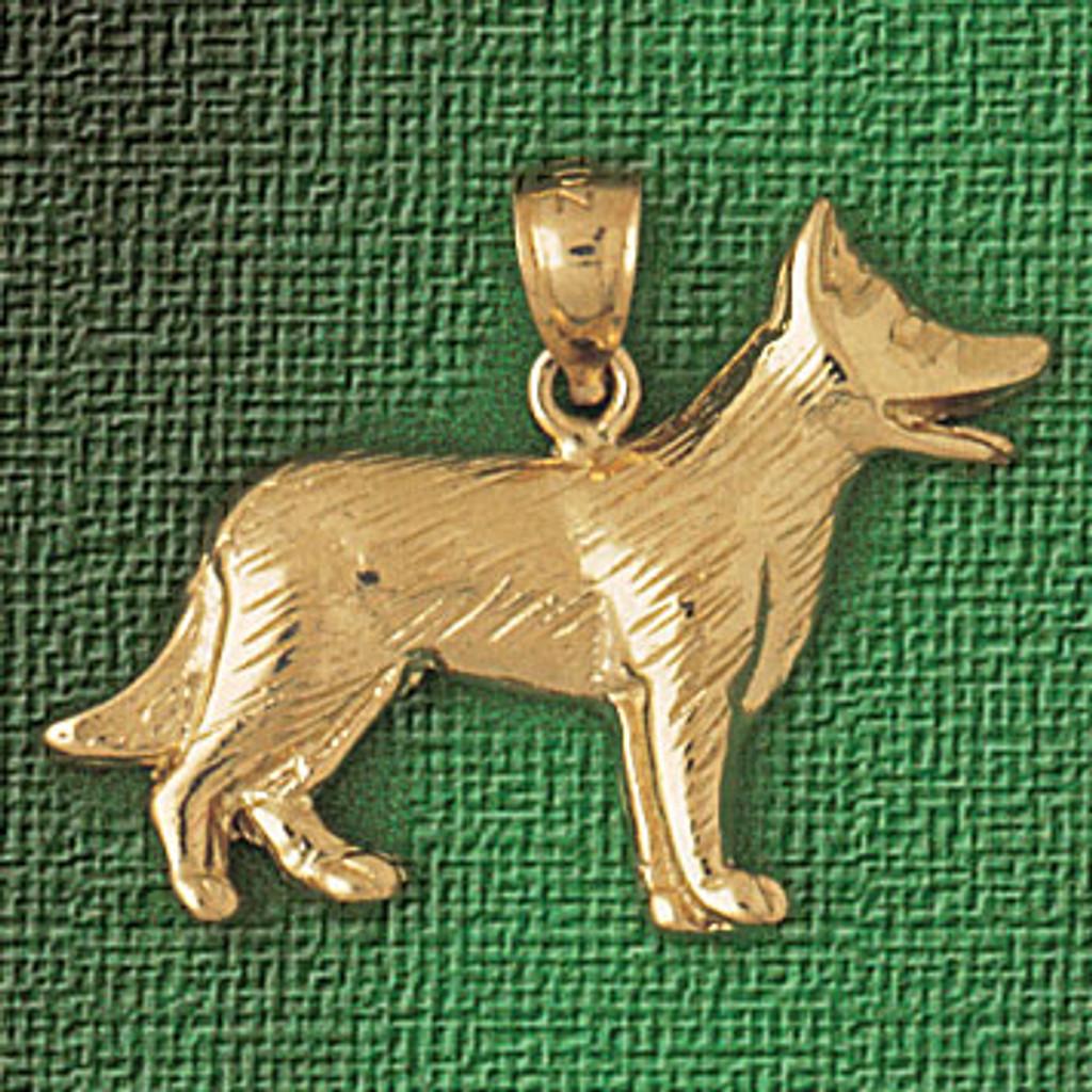 db2c9f0ea44b9 German Shepherd Dog Pendant Necklace Charm Bracelet in Gold or Silver 2141