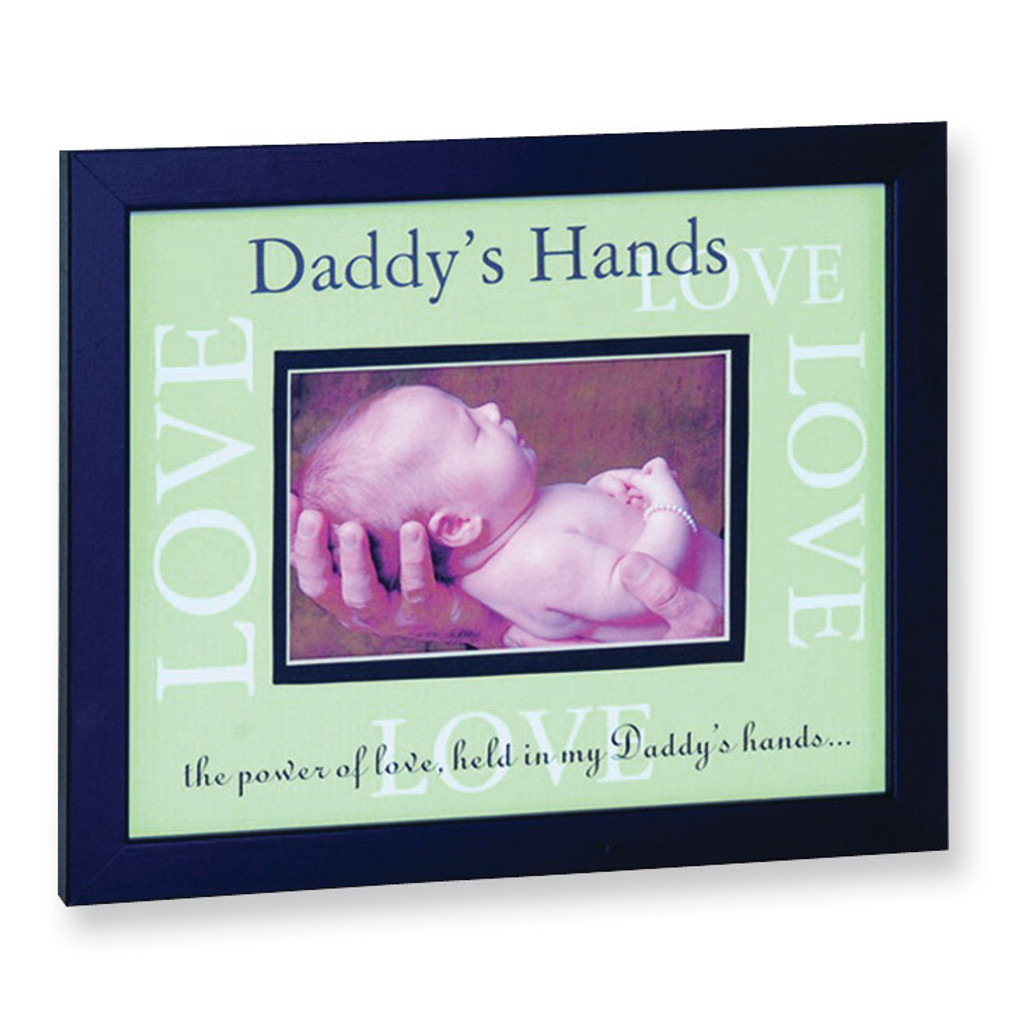 Daddys Hands Love 6x4 Black Picture Frame GM6092