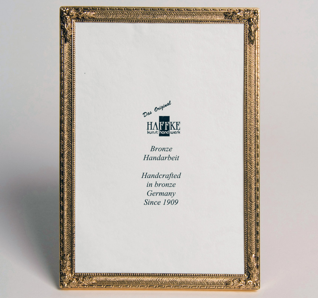 Haffke Bronze With Rose Picture Frame 5 x 7 Inch