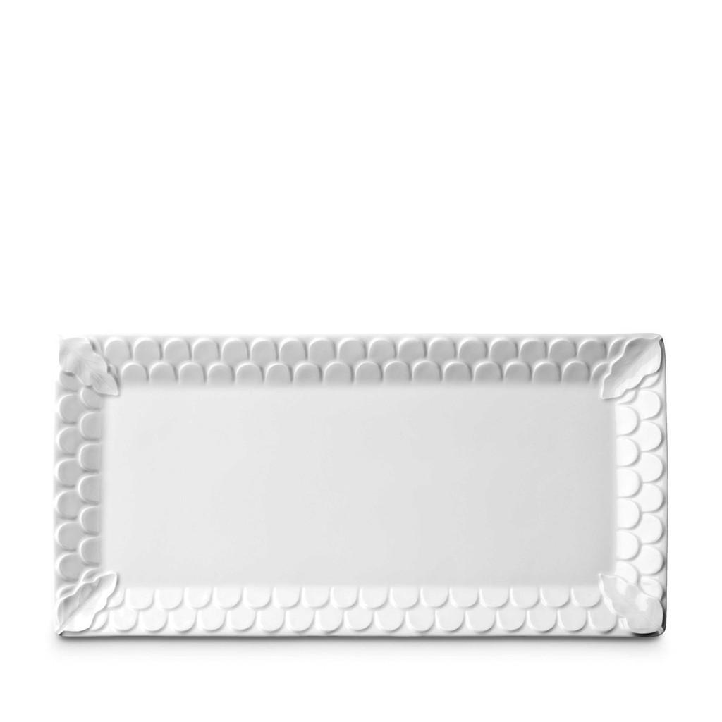 L'Objet Aegean Rectangular Platter - White MPN: AG1900