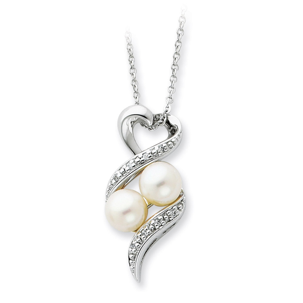 2 P's in a Pod Motherhood/ Friendship 18 Inch Necklace Sterling Silver QSX236