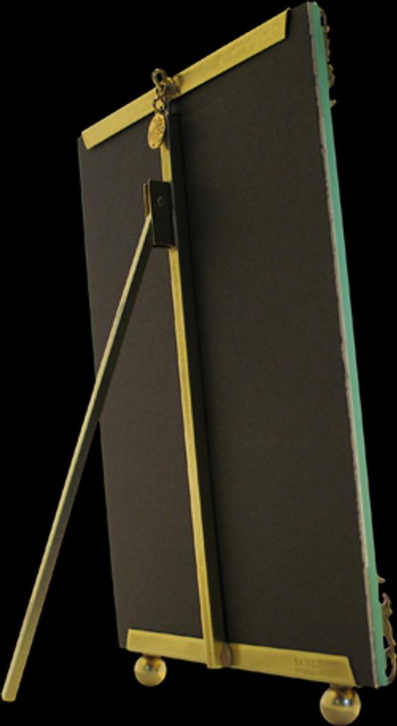 La Paris French Ribbon 5 x 7 Inch Brass Picture Frame - Horizontal